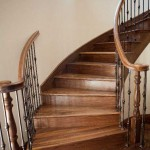 Atherton stair and handrail, walnut with iron balusters - 20