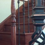 San Jose stair and handrail, Brazilian cherry with iron balusters - 7