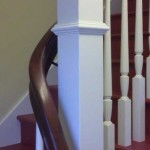 Mountain view handrail, cherry with painted posts and balusters -23