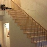 Santa Clara stair and handrail, maple with stainless steel posts and balusters - 10