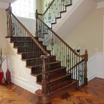 Atherton handrail, walnut with iron balusters - 16