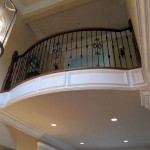 Atherton gallery rail, walnut with iron balusters - 17