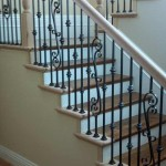San Jose stair and handrail, oak with iron balusters - 21