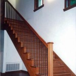 Los Altos stair and handrail, Brazilian cherry with iron balusters - 11