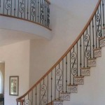 Cupertino stair oak with tile risers and iron balusters - 5